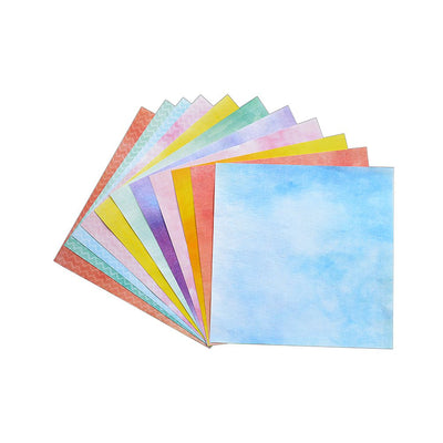 Chevron In Aquarelle - Pattern Paper, 12designs, 12 sheets, 12x12inch