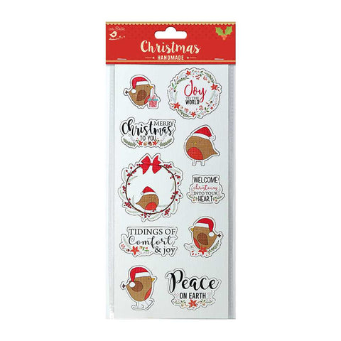 3D Sticker - Christmas Bird with Wishes, 1pc