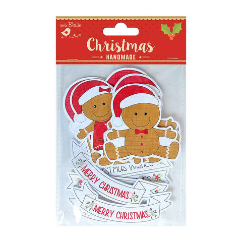 Christmas Die cuts - Gingerbread Man and Words, 12pcs