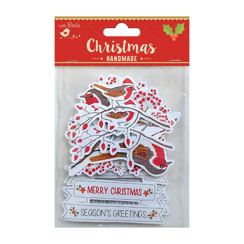 Christmas Die cuts - Robin with Words, 12pcs
