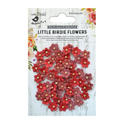 Beaded Micro Petals Cherry 60Pc Little Birdie