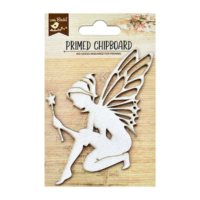Chipboard - Fairy With Magic Word 1pc Little Birdie