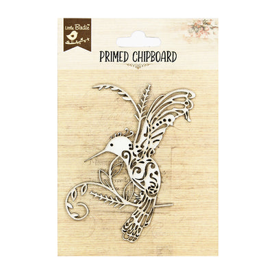Primed Chipboard - Bird Flourish, 1pc