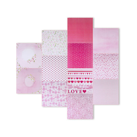Pretty In Pink Pattern Paper 12designs 12'' x 12'' 12pack 250gsm Little Birdie
