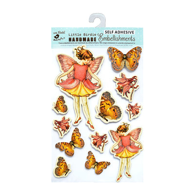 Fairies and Butterflies Embellishments - 12pcs