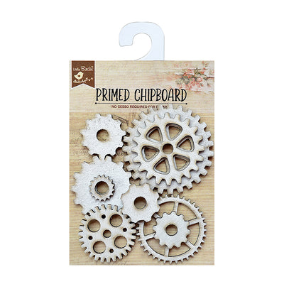 Chipboard - 3D Gearwheel 1pc Little Birdie