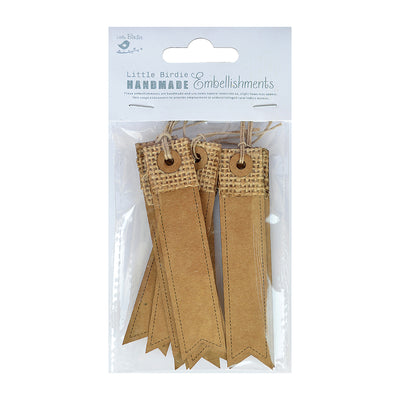Tags- Kraft and Burlap Banner Tags, 10pcs