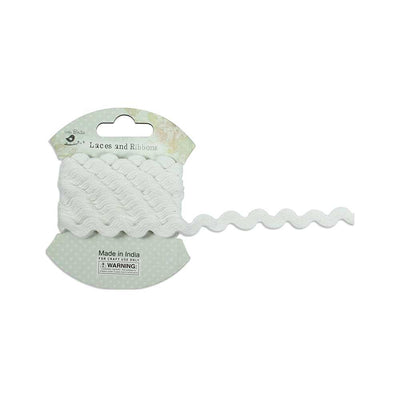 Ric Rac Ribbon 7mm, 2mtr - White