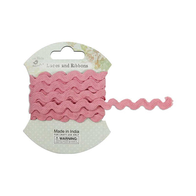 Ric Rac Ribbon 7mm, 2mtr - Pink