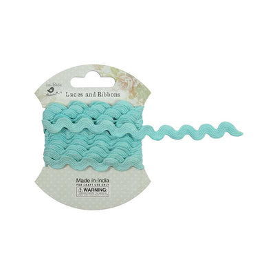 Ric Rac Ribbon 7mm, 2mtr - Blue