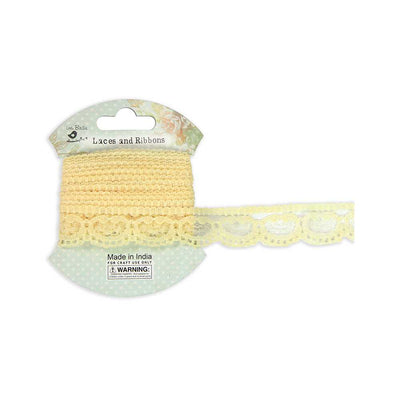 Crochet Ribbon - Yellow, 2cm, 2mtr