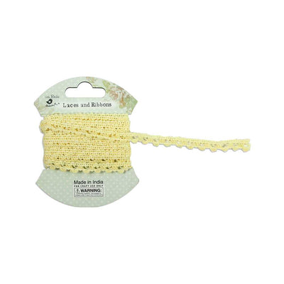 Crochet Ribbon - Yellow, 7mm, 2mtr