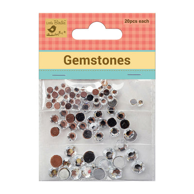 Gem Stones Without hole 4,6,8mm Ice Drop 20Pc Each