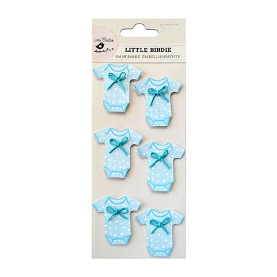 Onesies Blue 6Pc Little Birdie