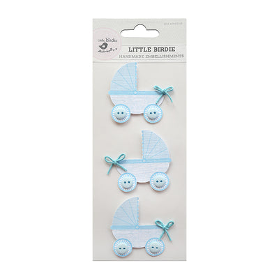 Bubbly Pram Blue 3Pc Little Birdie