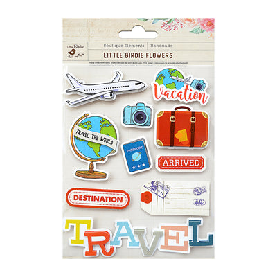 Travel Embellishments 10Pc