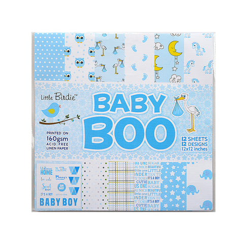 Baby Boo - Pattern Paper, 12 sheets, 12 designs, 12x12inch Little Birdie