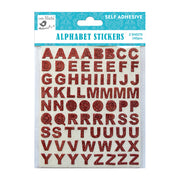 Glitter Alpha Stickers Red 136Pc Little Birdie