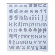 Glitter Alpha Stickers Sliver 136Pc Little Birdie