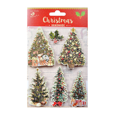 Vintage Christmas Tree Embellishments- 6Pc