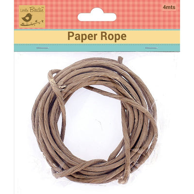 Paper Rope - Brown 4mtr Little Birdie