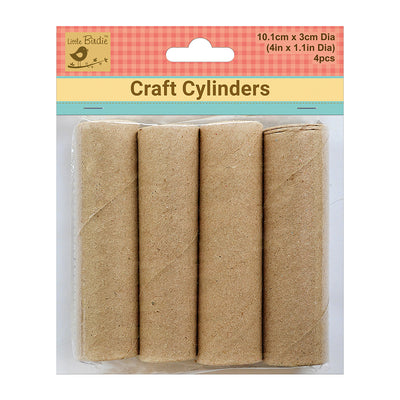 Craft  Cylinder - Brown, 101mm x 30mm, 4Pc Little Birdie