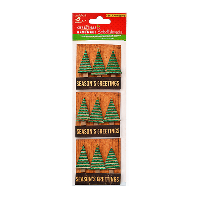 Christmas Tree Greetings 3Pc