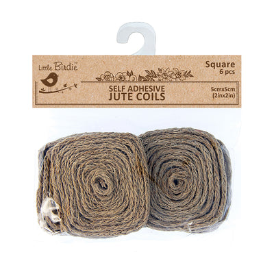 Jute Coils - Square, 2in Dia, 6pcs