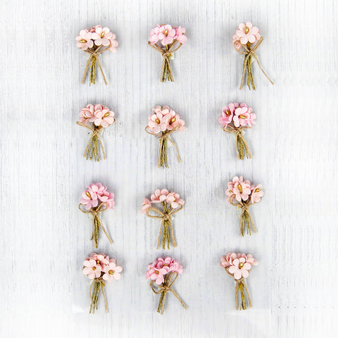 Bouquet Pearl Pink 12Pc Little Birdie