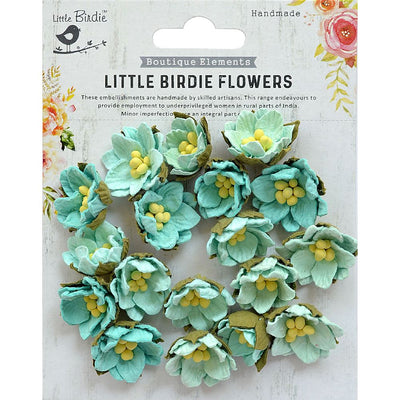 Handmade Flower Butter Cup Arctic Ice 18Pc