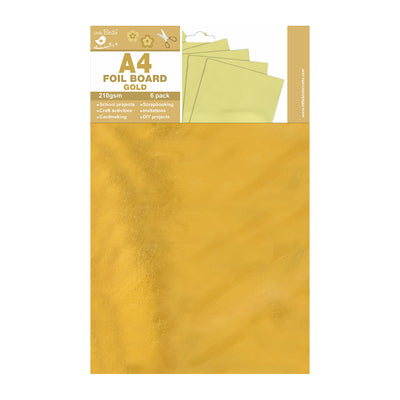 A4 Foil Board Gold 210gsm 6pack  Little Birdie