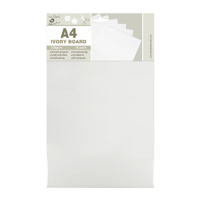 A4 Ivory Board  230gsm 10pack Little Birdie