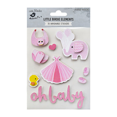 Oh Baby Girl Pink 10Pc Little Birdie