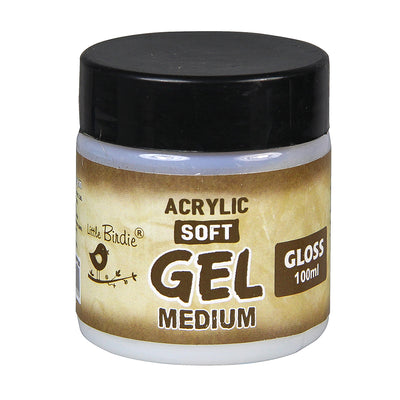 Acrylic Soft Gel Medium Gloss 100ml Little Birdie