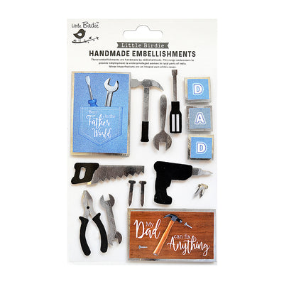 Dad Can Fix Anything Sticker Embellishment 16Pc