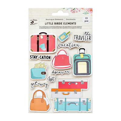 Stay Cation Sticker Embellishment 13Pc