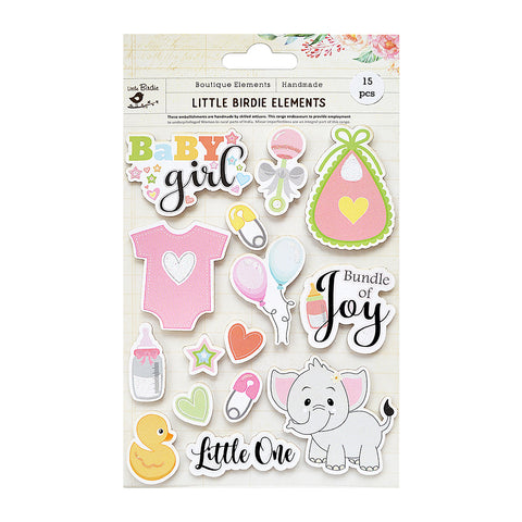 Bundle Of Joy Sticker Embellishment 15Pc