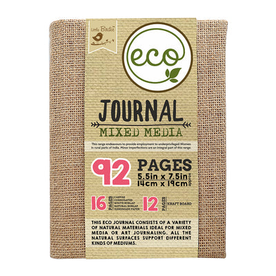 Eco Journal Mixed  Media 5.5inX7.5in 92pages Little Birdie