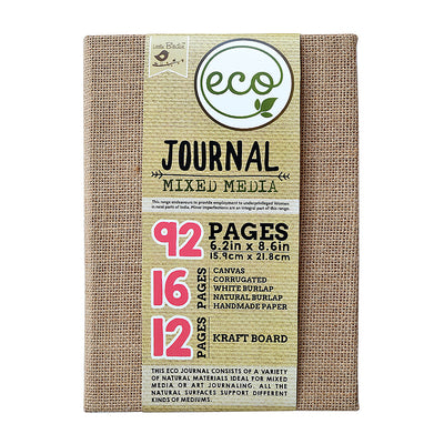 Eco Handmade Mixed Media Journal- 6.2in x 8.6inch, 92 pages