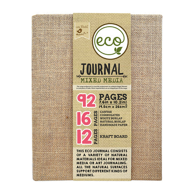 Eco Journal Mixed  Media 7.6inX10.2in 92pages Little Birdie