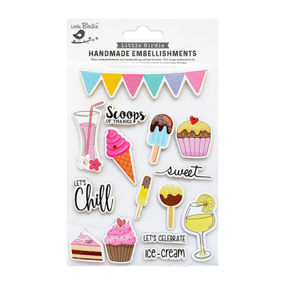 Scoops Of Thinks Sticker Embellishment 15Pc Little Birdie