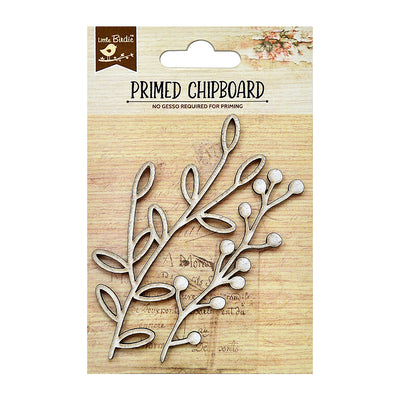 Chipboard Garden Greens 2Pc Little Birdie