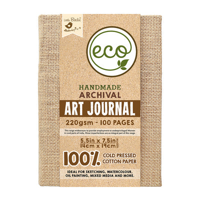 Handmade Art Journal - 220gsm, 5.5inX7.5in, 100pages Little Birdie