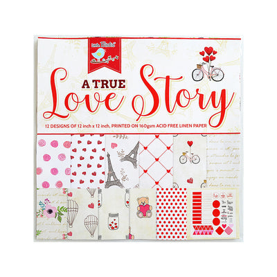 A True Love Story 12inX12in Paper Pack 12'' x 12'' 12Sheet 230gsm Little Birdie