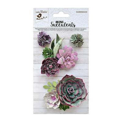 Succulent Meadow 4Pc Little Birdie