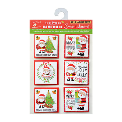 Holly Jolly Santa - Toppers, 6Pc