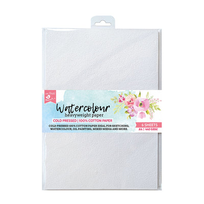 Water Colour Paper Heavyweight 440gsm A4 6Sheets