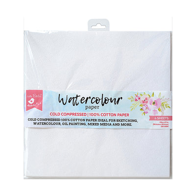 Watercolour Paper- 12x12inch,220gsm, 6sheets