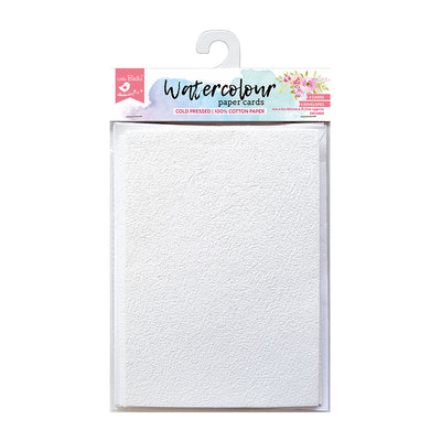 WaterColour 4 Cards & 4 Envelopes 4in X 6in 220gsm