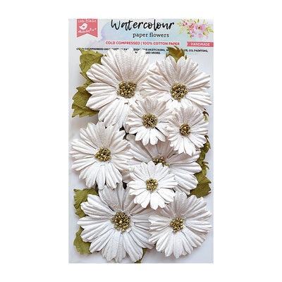 Handmade Flower Watercolour Paper Fancy Daisies 11Pc